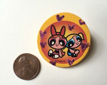 Power Puff Girl Blossom and Bubbles pin