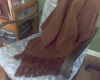 Vintage wool throw blanket brown,Wool, never used