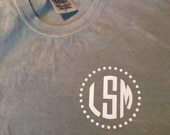 Comfort Colors monogram t shirt