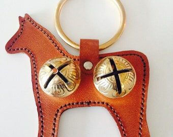 Horse Door Chime with Solid Brass Sleigh Bells