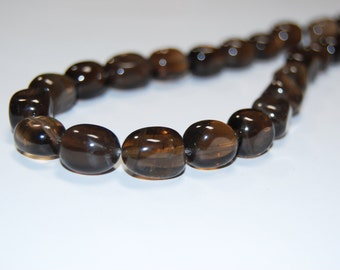 Smoky Quartz Nugget Beads, Different Size 8x11x14mm-12x12x16mm.I-QUA-0056