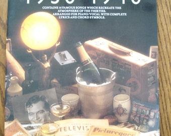 Sheet music book 1930-1940