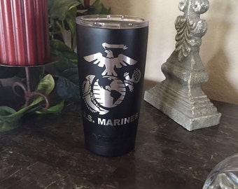 Custom Powder Coated Yeti, RTIC Cups, Marines yeti, Yeti, Marines