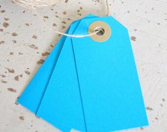Parcel Tags Pk10 - Blue