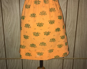 Vintage 70's novelty print frog and butterfly skirt - m/l