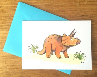 3pack - Triceratops Greeting Cards