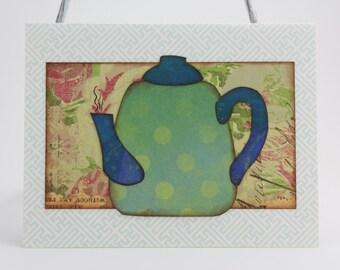 Greeting Card: Teapot (blank inside)
