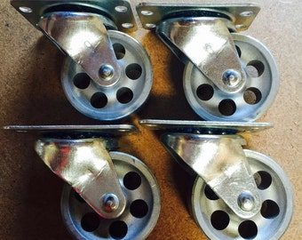 "2"" Steel Caster Set. Four Swivel Casters"