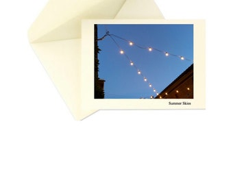 High Quality Stationery - 5 note / 5 envelope (Summer Skies)