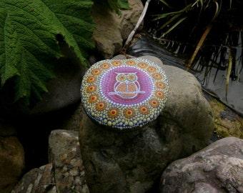 Mandala stone OWL
