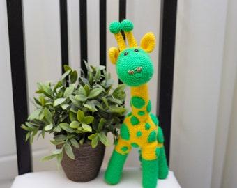 Yellow Giraffe. Giraffe amigurumi. Giraffe handmade. Giraffe crochet. Giraffe toy. Giraffe knitting
