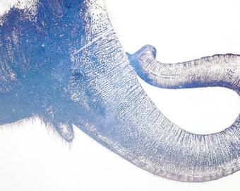 Elephant print wall art print