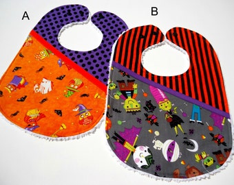Halloween baby girl bibs- Chenille Baby Halloween bibs-Baby halloween bibs-Bibs for baby girl-Halloween bibs
