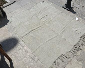 Hemp Rugs,Handwoven vintage rug,Anatolian turkish hemp rug,Beige hemp rugs '5.1 x'4.2 ft