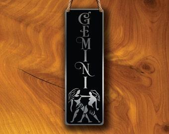 GEMINI ZODIAC SIGN Wall Art Sign, Gemini Wall Plaque, Gemini Hanging Plaque, Gemini Star Sign, Gemini Star Sign Art, Zodiac Gemini, Gemini