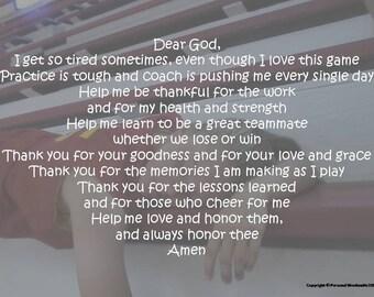 Girl's Basketball Prayer, Basketball Prayer Poem, Short Athlete's Poem, Athletic Poetry, Poem for Girls Basketball, Pregame Basketball Poem
