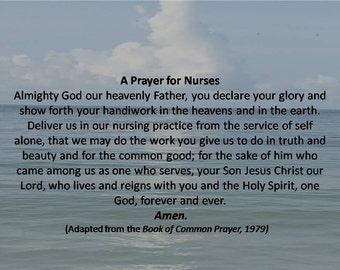 Catholic Nurse's Blessing Digital Print, Catholic Prayer for Nurses Download, Catholic Nurse's Prayer Digital Wall Art, Caregiver's Prayer