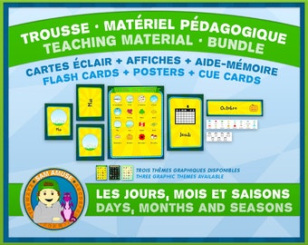 French Teaching Material - DAYS, MONTHS and SEASONS - Circus