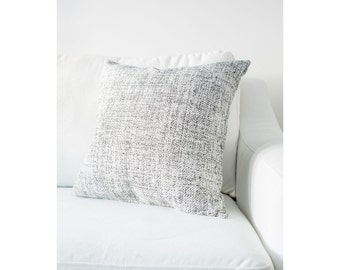 Black-White Static Pattern Fully Washable Complete Pillow designed by Jo Alcorn