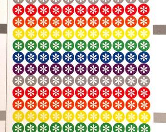 Dot asterisk planner stickers