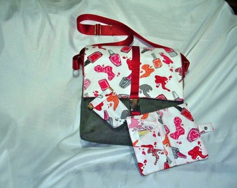 nail polish messenger bag