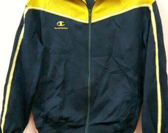 Vintage Champion Sweater Fully Zip Sport Wear Bomber Jacket