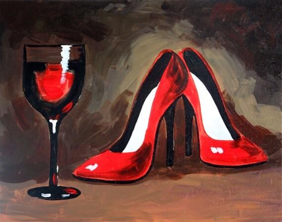 Acrylic Paint On High Heels