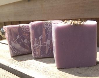 Lavender Soap/Geranium Soap/ Homemade Soap, Natural Soap, Face & Body Soap/Purple Soap