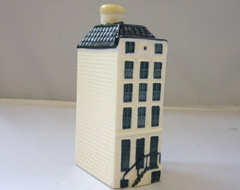 Blue Delft's KLM Bols Amsterdam Canal House 57 Hand painted Art Bottle