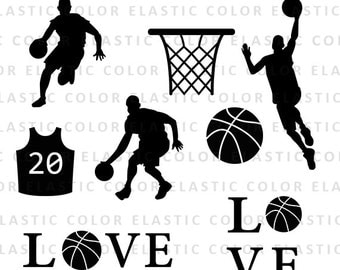 Basketball svg - basketball clipart,  basketball player silhouette - basketball digital download clip art svg, dxf, eps, png