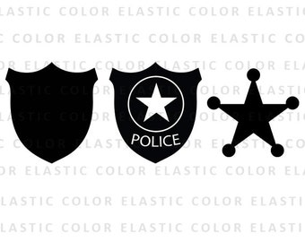 Police badge svg file - police badge clipart - sheriff badge clip art vector digital files svg, png, dxf, eps