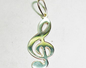 Key Sun Music pendant, sterling silver