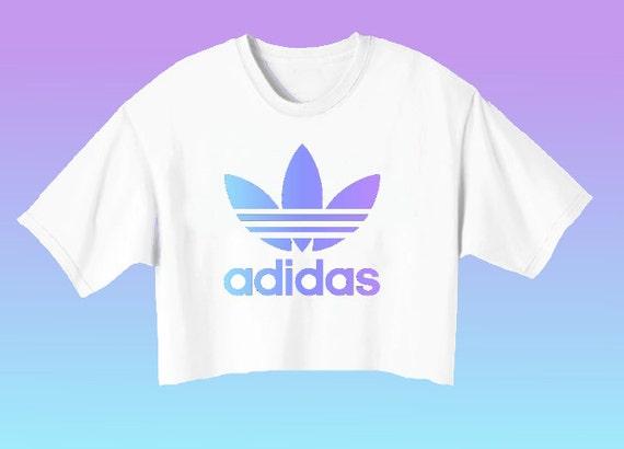 Adidas Logo Crop Top // Pastel Goth Grunge Kawaii Tumblr Teen ...