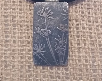 Sterling Silver Dandelion Necklace and Earrings Set