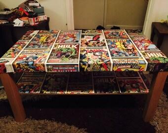 Comic Book Table - Decoupage