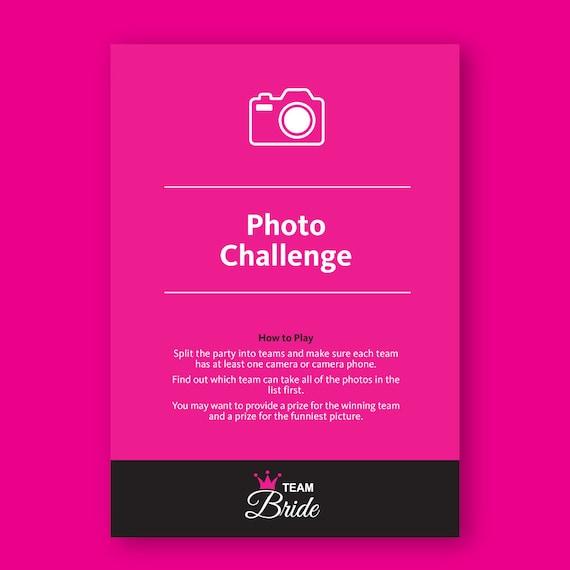 Photo Challenge Hen Party Game Fun Hen Night Games Instant