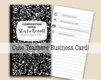 Teacher business card | Etsy