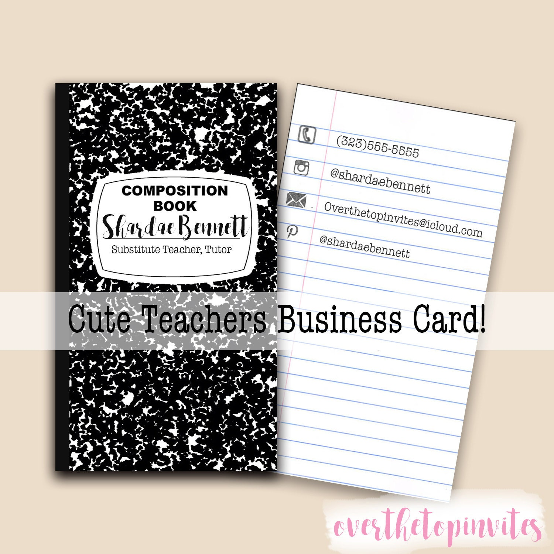 Beautiful Teacher Business Card Ideas - Business Card Ideas ...