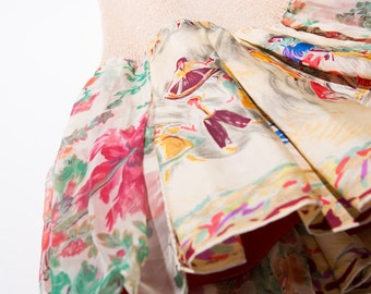 Unique dress made of sophisticated used scarves that will make you stand out in a room...n*11