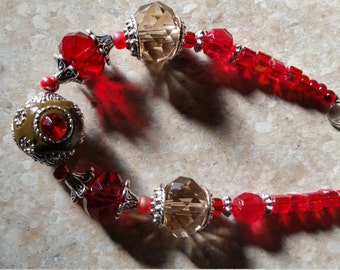 Stunning Red and Gray Bracelet