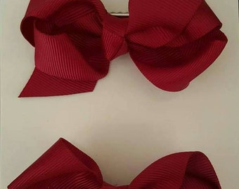 School Ruffle Hair Bows - Set of 2 UK SELLER