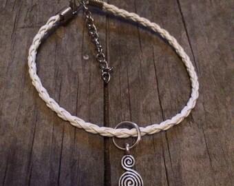 Faix leather charm bracelet.