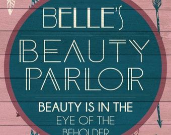 Custom Beauty Parlor Sign Digital Download
