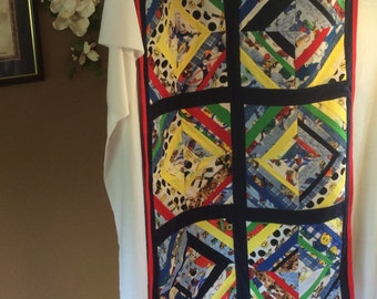 Crazy strip quilt- toddler