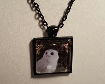 Gothic Snowy White Owl Pendant