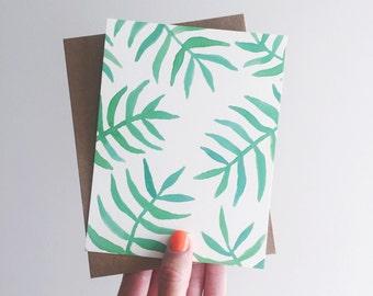 greeting card / palms