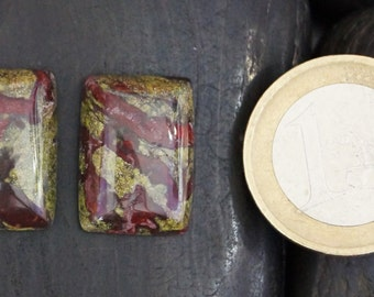 Dragon Bloodstone Jasper cabochon stone- set (085)