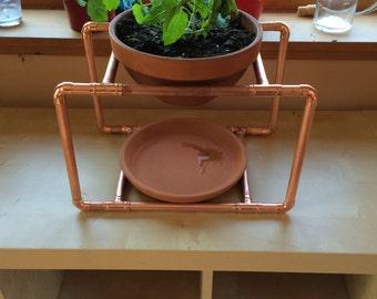 Copper Plant Pot Holder