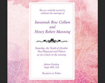 Watercolor Wedding Invitation PDF