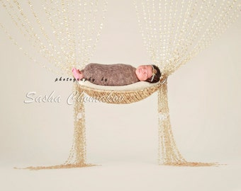 digital backdrop background off  white newborn baby girl gold
